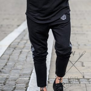 Παντελόνι Φόρμα μαύρο με φερμουάρ