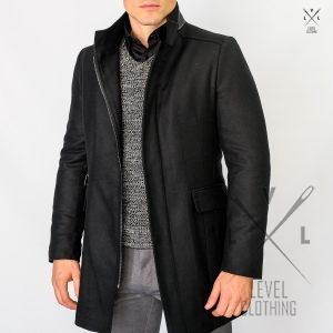Ανδρικό Παλτό LEVEL Μαύρο