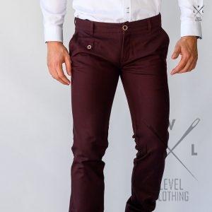 Chinos παντελόνι Μπορντό