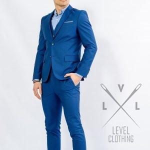 Ανδρικό κοστούμι με γιλέκο μπλε