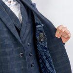 Ανδρικό σακάκι  Μπλε Καρό