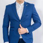 Ανδρικό σακάκι LEVEL μπλε
