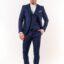 Ανδρικό κοστούμι LEVEL με γιλέκο μπλε