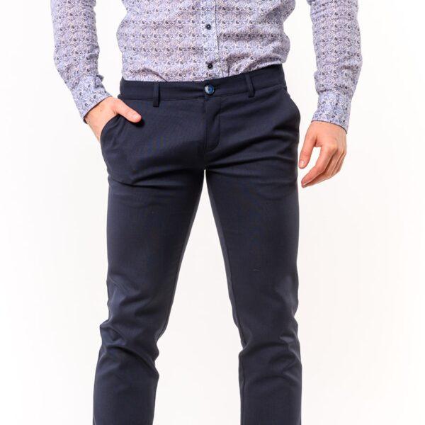 Chinos παντελόνι LEVEL Σκούρο Μπλέ