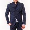 Ανδρικό Σακάκι LEVEL Mάο Μπλε σκούρο