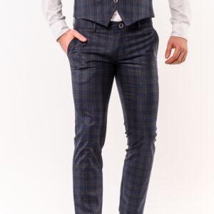 Chinos παντελόνι LEVEL Μπλε Καρό